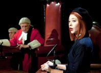 Patrick Godfrey and Catherine Steadman in Witness for the Prosecution. Photo: Sheila Burnett
