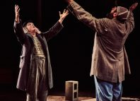 David Fielder and Colin O'Connor in Waiting for Godot at Tobacco Factory, Bristol. Photo: Mark Dawson