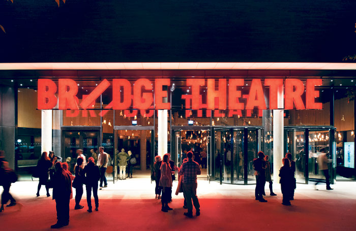 The Bridge Theatre entrance. Photo: Philip Vile