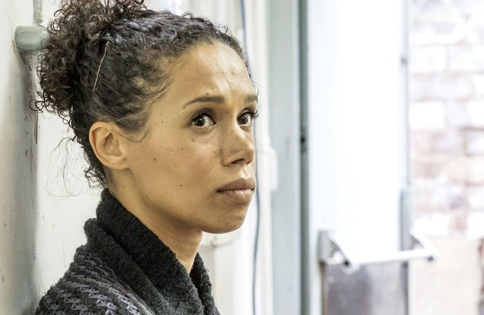 Vinette Robinson in rehearsals for Albion. Photo: Public Eye
