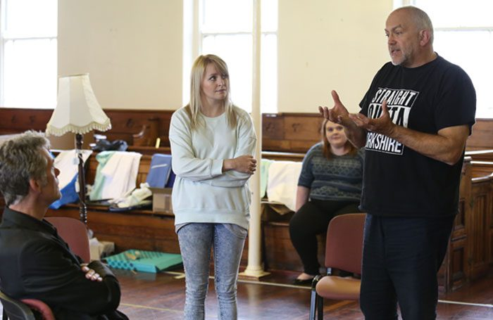 John Godber directing his recent play This Might Hurt. The writer will tackle Brexit in a new work for Sky Arts' Art 50 project. Photo: Amy Charles