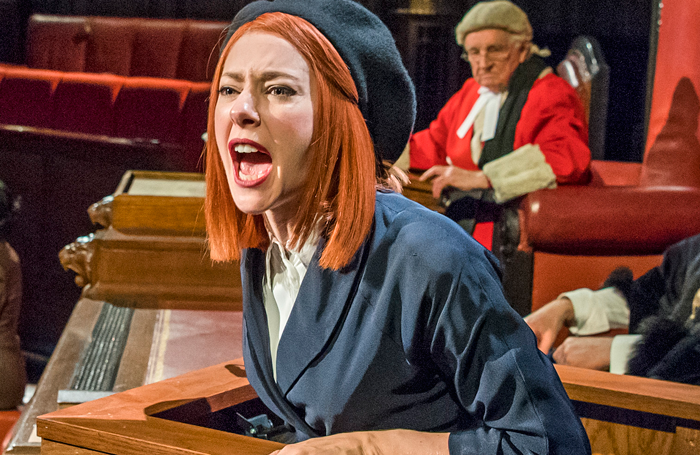 Catherine Steadman in Witness For The Prosecution, London County Hall. Photo: Tristram Kenton