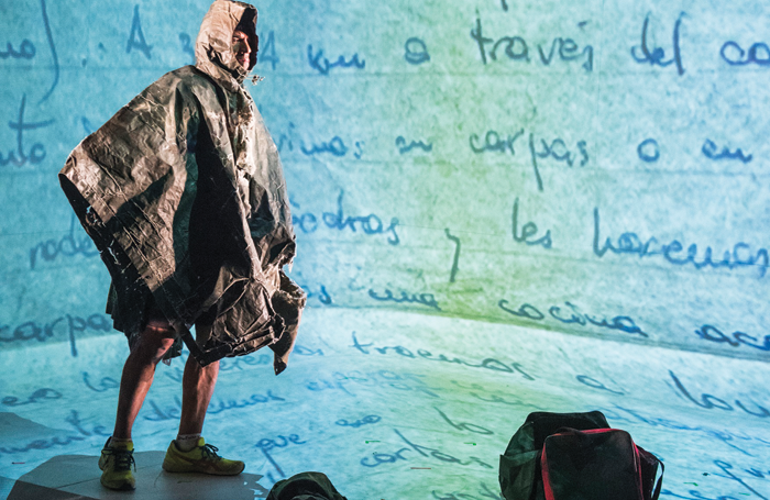 Marcelo Vallejo in Arias' Minefield at the Royal Court in 2016. Photo: Tristram Kenton