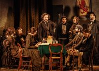 Rory Kinnear and the cast of Young Marx at Bridge Theatre, London. Photo: Manual Harlen