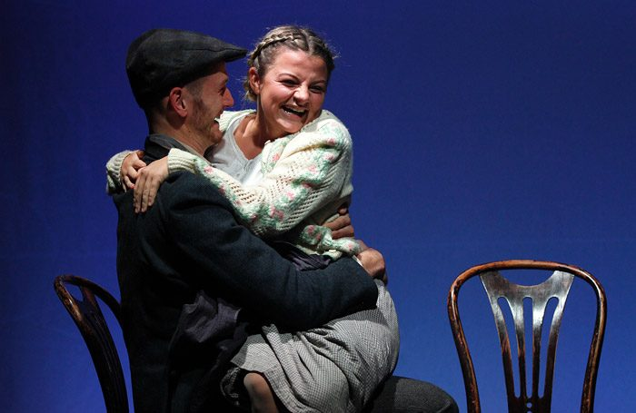 Ross Ford and Charlotte O'Leary in Under Milk Wood at Watermill Theatre, Newbury