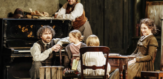 Rory Kinnear, Oliver Chris, Harriet and Rupert Turnbull and Nancy Carroll. Photo: Manuel Harlan