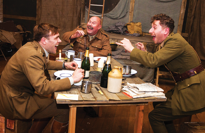 Tom Kay, John Rayment and Alexander Tol in Journey's End. Photo: Steve Edwin Photography