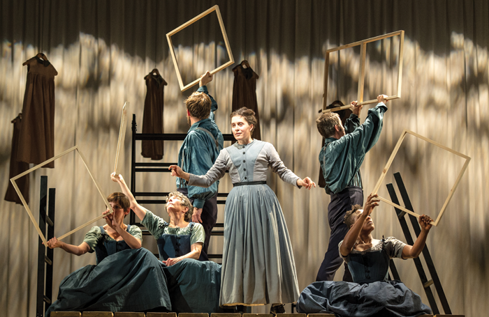 Madeleine Worrall (centre) in Jane Eyre at the National Theatre in 2015. Photo: Manuel Harlan