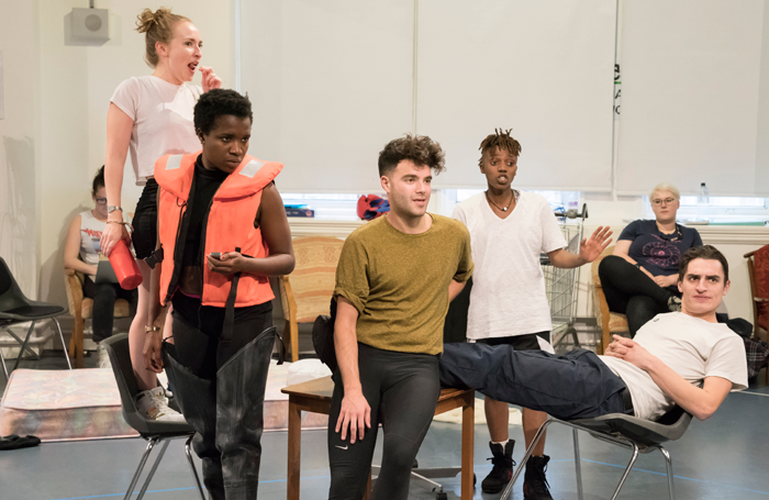 Cast members in rehearsal for Jubilee. Photo: Johan Persson