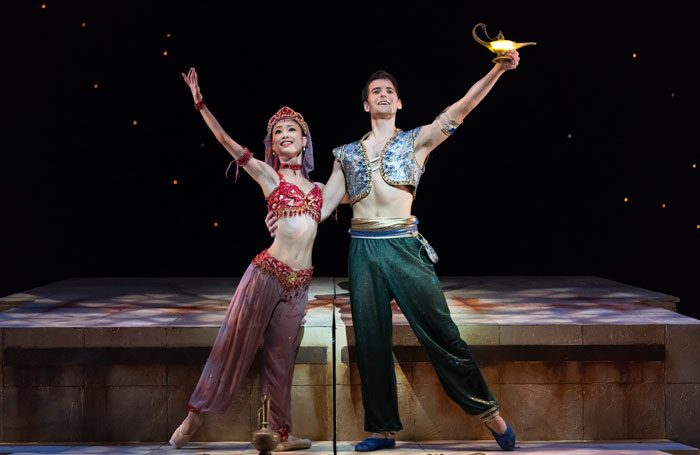 Momoko Hirata and Mathias Dingman in Birmingham Royal Ballet's Aladdin. Photo: Bill Cooper