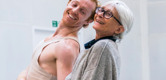 Twyla Tharp in rehearsal with Steven McRae for The Illustrated 'Farewell'. Photo: Tristram Kenton