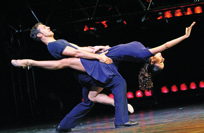 Holly Cruikshank and David Gomez in Movin' Out – the Billy Joel musical choreographed by Twyla Tharp – at the Apollo Victoria, London, in 2006. Photo: Tristram Kenton