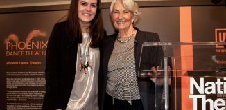 Linbury prize-winner Basia Binkowska (left) with awards founder Anya Sainsbury