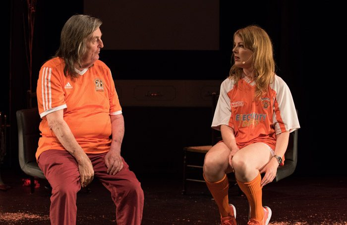Victoria Melody in Ugly Chief at Battersea Arts Centre, London. Photo: Hugo Glendinning