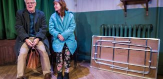 Gary Lilburn and Connie Walker in Trestle at Southwark Playhouse. Photo: Tristram Kenton