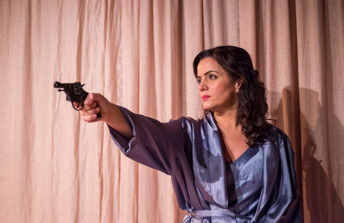 "Lisa Zahra in Death and the Maiden at the Other Room, Cardiff. Photo"" Kieran Cudlip"