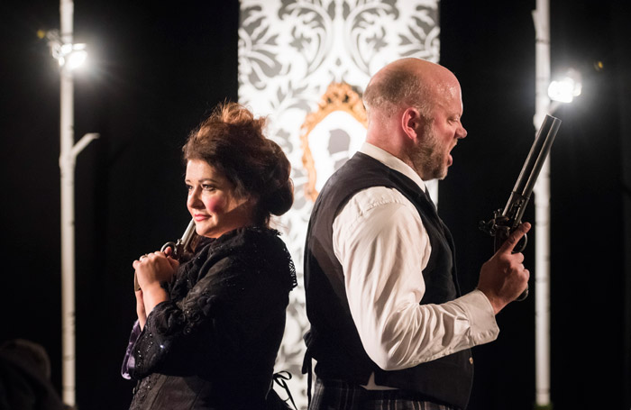 Scene from Mid Wales Opera's The Bear. Photo: Matthew Williams-Ellis