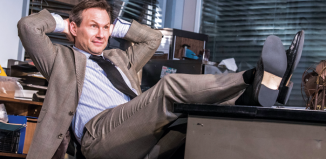 Christian Slater in Glengarry Glen Ross at London's Playhouse Theatre. Photo: Tristram Kenton