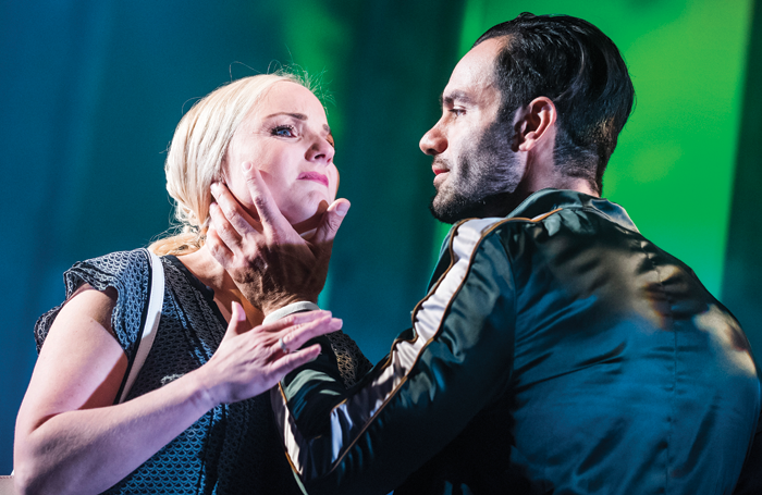 Kerry Ellis and Ramin Karimloo in Murder Ballad at the Arts Theatre in 2016. Photo: Tristram Kenton