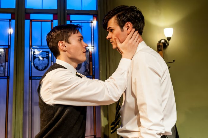 Jack Archer and Harley Viveash at Finborough Theatre, London. Photo: Lidia Crisafulli