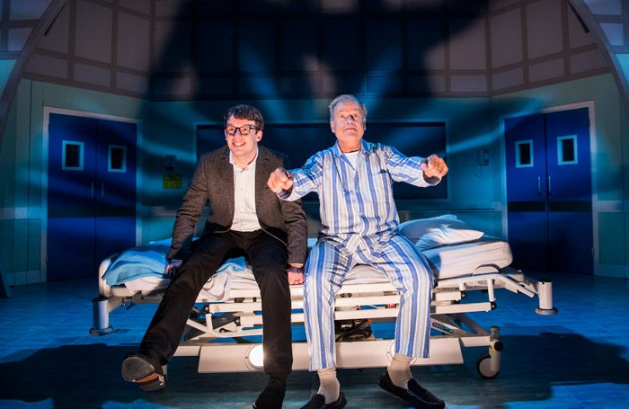 Matthew Seadon-Young and Kelsey Grammer in Big Fish at the Other Palace, London. Photo: Tristram Kenton