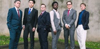 The cast of The Butch Monologues at Theatre Royal Stratford East, London. Photo: Christa Holka