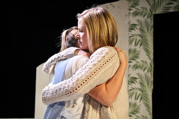 Holly Donovan and Clare Corbett in No Place Like Hope at the Old Red Lion Theatre. Photo: Catherine Piper