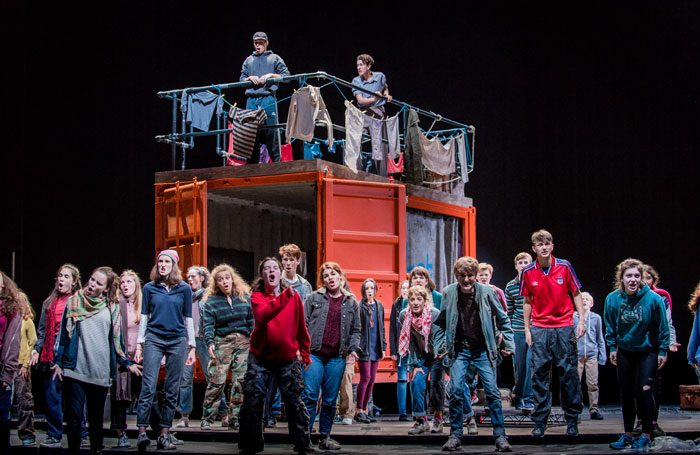 Glyndebourne Youth Opera performers in Belongings. Photo: Robert Workman
