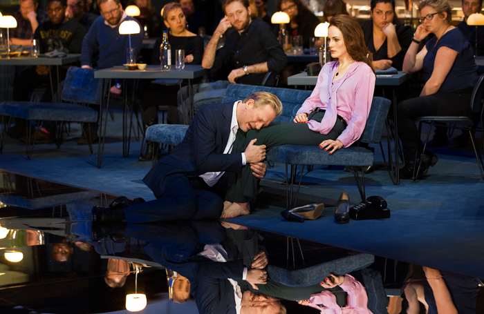 Douglas Henshall and Michelle Dockery in Network. Photo: Jan Versweyveld