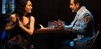 Katrina Lenk and Tony Shalhoub in The Band's Visit. Photo: Matthew Murphy