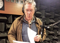 Tim Bentinck during a recording for The Archers