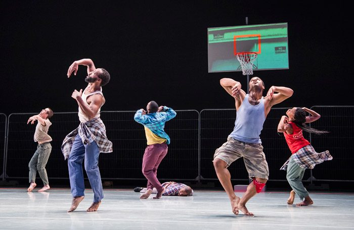 The company of Kyle Abraham's Pavement at Sadler's Wells, London. Photo: Tristram Kenton