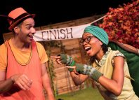 Stefan Stuart and Ebony Feare in Pied Piper Theatre Company's Hare and Tortoise. Photo: Joshua Gow