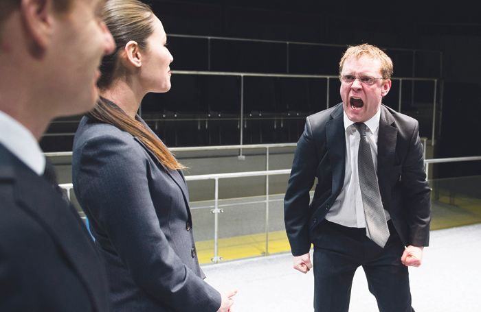 Mike Bartlett's play Bull, which examines bullying and harassment in the workplace, was first staged at the Crucible Studio Theatre, Sheffield, in 2013. Photo: Tristram Kenton