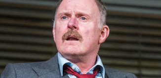 Robert Glenister (Dave Moss) in Glengarry Glen Ross. Photo: Tristram Kenton