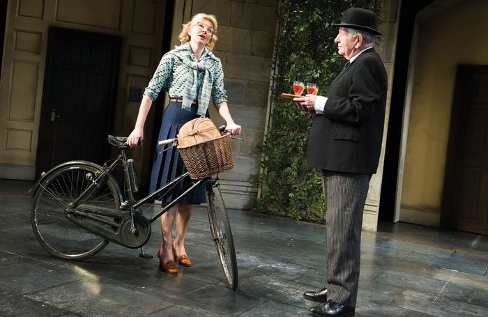 Keith Barron with Jemma Redgrave in Donkeys' Years at the Rose Theatre, Kingston, in 2014. Photo: Tristram Kenton