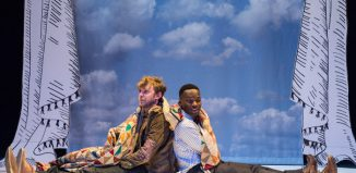 Christian Roe and Ashley Byam in The Velveteen Rabbit at Unicorn Theatre, London. Photo: Manual Harlan