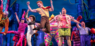 Always splashing in the same bath: Spongebob Squarepants on Broadway. Photo: Joan Marcus