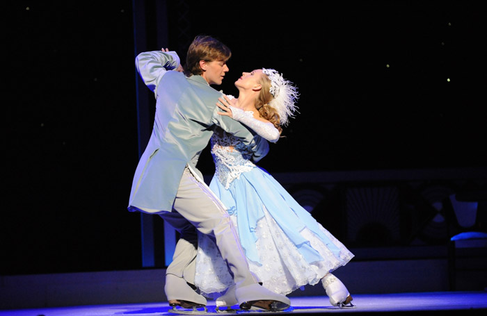 Yahor Maistrou and Liubov Bakirova in Cinderella on Ice at Hyde Park Winter Wonderland, London