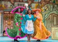 Kat B, Aisha Jawando and Tony Whittle in Cinderella at Hackney Empire, London. Photo: Tristram Kenton