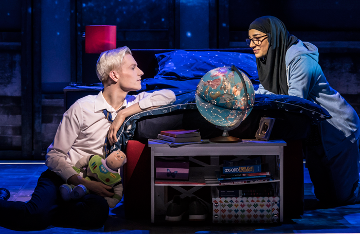 John McCrea and Lucie Shorthouse in Everybody's Talking About Jamie at the Apollo Theatre. Photo: Johan Persson