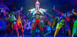 Vikki Stone in Jack and the Beanstalk at Lyric Hammersmith. Photo: Tristram Kenton