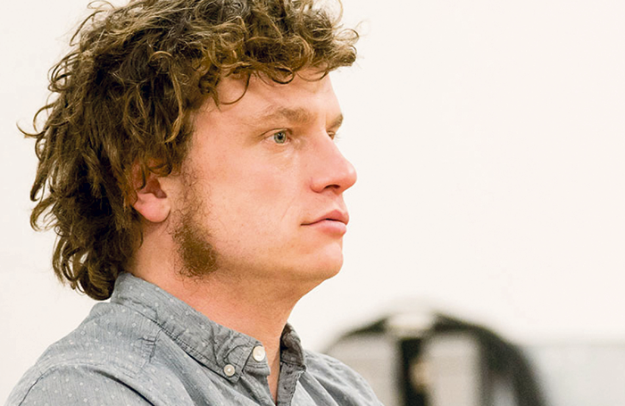 Hamish Pirie in rehearsals for Goats. Photo: Johan Persson