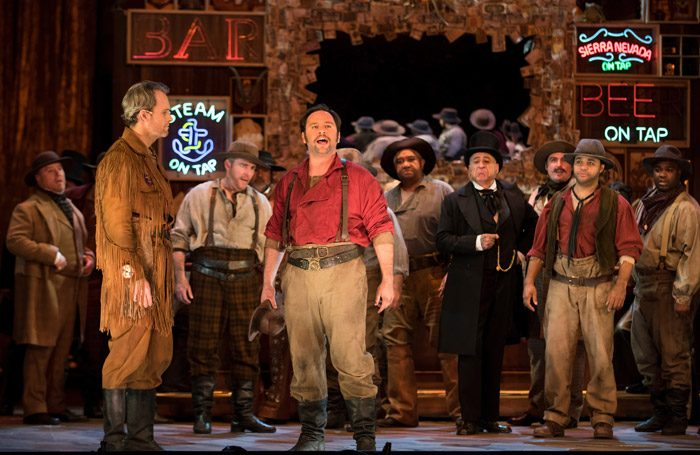 Stefan Cohen, Ryan McKiney and Paul Appleby in Girls from the Golden West at San Francisco Opera