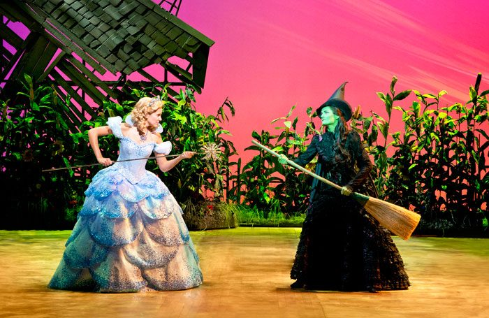 Emily Tierney and Nikki Davis-Jones in the UK and Ireland tour of Wicked. Photo: Matthew Crockett