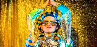 Alys Roberts (King Tut) in King Tut a Pyramid Panto Photo: William Knight