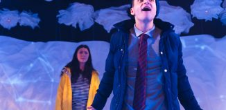 Heather Carroll and Daniel Watson in The Terminal Velocity of Snowflakes at Live Theatre, Newcastle-upon-Tyne