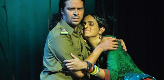 Sheejith Krishna and Akhila Ramnarayan in Night's End at Soho Theatre, London