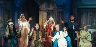 The cast of The Scouse Nativity at Royal Court, Liverpool. Photo: AB Photography