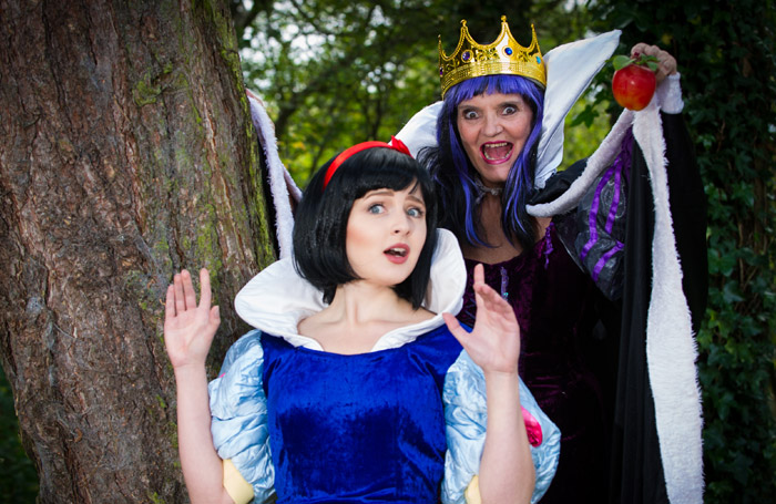 Anne Nolan and Emma Brown in Snow White and the Seven Dwarfs, Cannock. Photo: Jon Keeling
